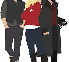Neal, Emma, and Hook by eevylynn