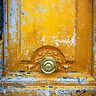Old wooden door with metal handle iPhone Cases by ilolab