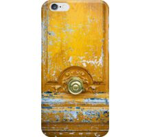 Old wooden door with metal handle iPhone Cases iPhone Case/Skin