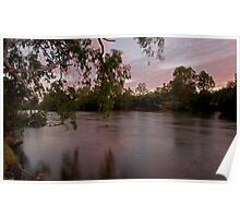 Sunset on the Murray River Poster
