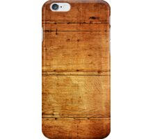 Vintage wooden wall iPhone Cases iPhone Case/Skin