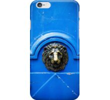 Blue old door with metal handle iPhone Cases iPhone Case/Skin
