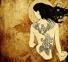 Girl with tattoo by Barbara Glatzeder