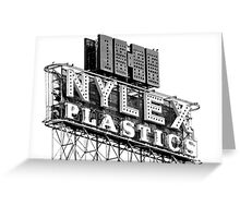nylex neon sign Greeting Card