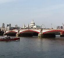 Waterloo Bridge, London, England by AnnDixon