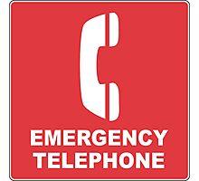 Emergency Telephone Photographic Print