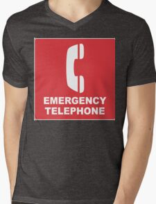 Emergency Telephone Mens V-Neck T-Shirt