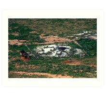 Barringer Crater Mine Shaft Art Print
