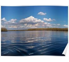 Sawgrass and clouds Poster