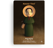 Mary Anning - Hammer Time! Canvas Print