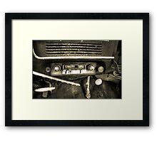 Old Car Radio Framed Print