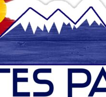 Estes Park Colorado wood mountains Sticker