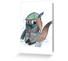 Winter Critter Card Greeting Card