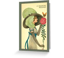 Valentine Card-Deco Woman Greeting Card