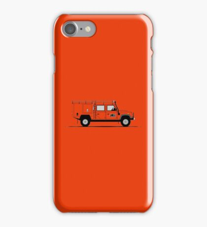 A Graphical Interpretation of the Defender 130 Double Cab High Capacity Pick Up G4 Challenge iPhone Case/Skin