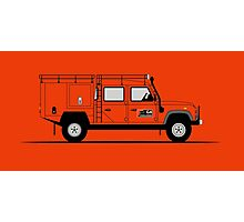 Land Rover Defender 130 Double Cab High Capacity Pick Up G4 Challenge Photographic Print