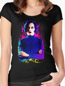 Joan Crawford, The digital Taxi Dancer Women's Fitted Scoop T-Shirt