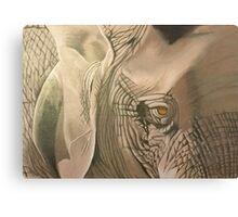 African Elephant Eye Canvas Print