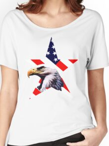 american star the Bald eagle Women's Relaxed Fit T-Shirt