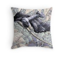 The Crow and the Pitcher Throw Pillow