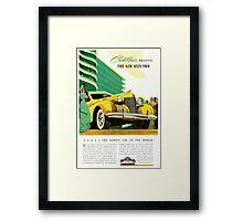 1940 Cadillac Vintage Poster Framed Print