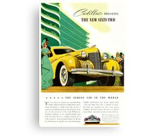 1940 Cadillac Vintage Poster Canvas Print