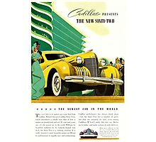 1940 Cadillac Vintage Poster Photographic Print
