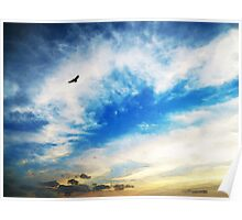 Above The Clouds - American Bald Eagle Art Painting Poster