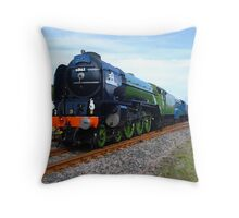Flying Scotsman Train Throw Pillow