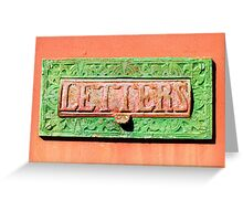Old Letter Box Greeting Card