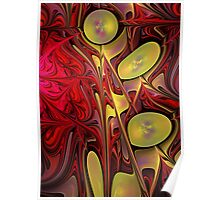 Expression, abstract fractal art Poster