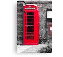 Phonebooth Canvas Print
