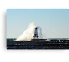 Overtaken, Ludington Lighthouse Canvas Print