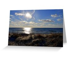 Wind Swept Sun Greeting Card