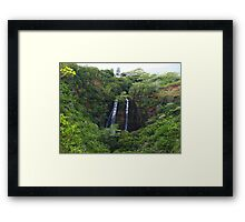 Double Waterfall Framed Print