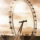 London Eye in the bright sun by Heidi Hermes