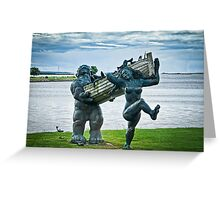 Saaremaa Giants bringing in the fish Greeting Card