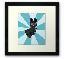 Grumpy Bunny Kung Fu Master Framed Print