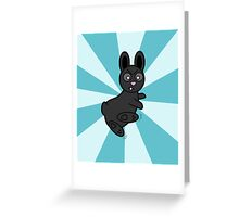 Grumpy Bunny Kung Fu Master Greeting Card