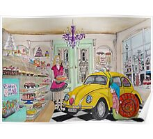 Taxi Bug's Cake Shop Poster