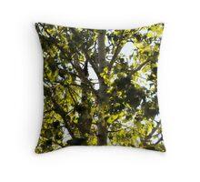 into the birch tree~ Throw Pillow