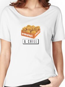 Popeyes and Chill? Women's Relaxed Fit T-Shirt