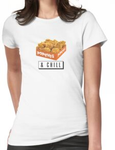 Popeyes and Chill? Womens Fitted T-Shirt