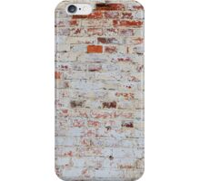 White brick wall iPhone Case/Skin