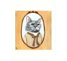 Portrait of Dahlia Cat Art Print