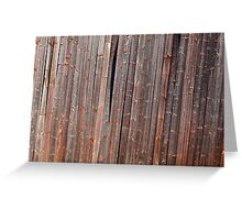 Old tilted barn wall Greeting Card