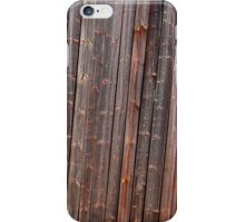 Old tilted barn wall iPhone Case/Skin