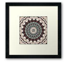 Mandala in Brown Framed Print