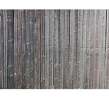 Old worn down barn wall Photographic Print