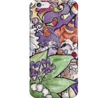 Colorful Watercolor and Ink Sketch Random Thoughts iPhone Case/Skin